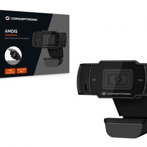 Webcam CONCEPTRONIC 720P HD - 1080P (interpolated) with Microphone - AMDIS03B