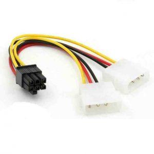 Adaptador Dual Molex Power PCIe gráfica