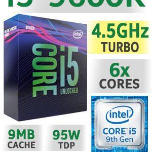 Processador INTEl i5-9600K 9MB 6C6T 3