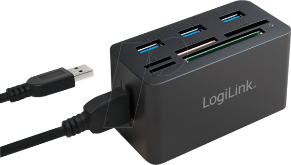 Leitor Cartoes + Hub USB 3.0 LOGILINK CR0042