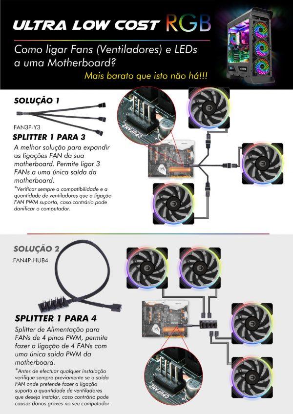 EXTENSAO DE 20CM MB 4PIN 12V RGB MALE-FEMALE
