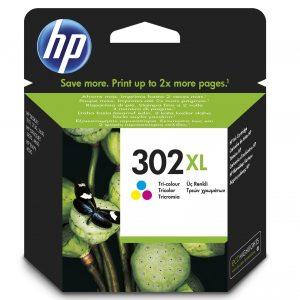 Tinteiro HP 302 XL Cores- F6U67AE